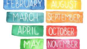 12 महीनो के नाम हिंदी में – Months Name In Hindi.